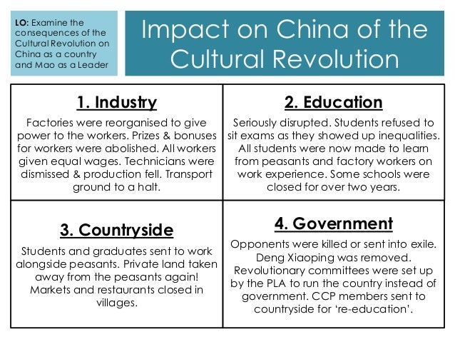 The Cultural Revolution Key Features Consequences