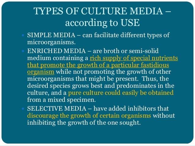 The culture media