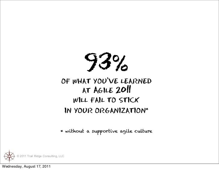 The Culture of Agility Slide 2