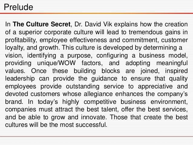 The Culture Secret Slide 3