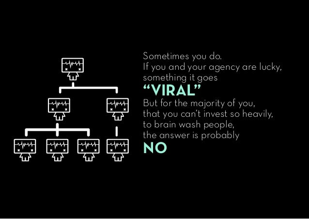 """Sometimes you do. If you and your agency are lucky, something it goes """"VIRAL"""" But for the majority of you, that you can't ..."""