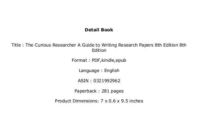 the curious researcher 8th edition pdf download