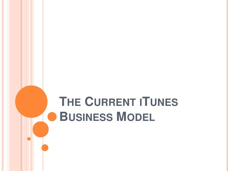 The Current iTunes Business Model<br />