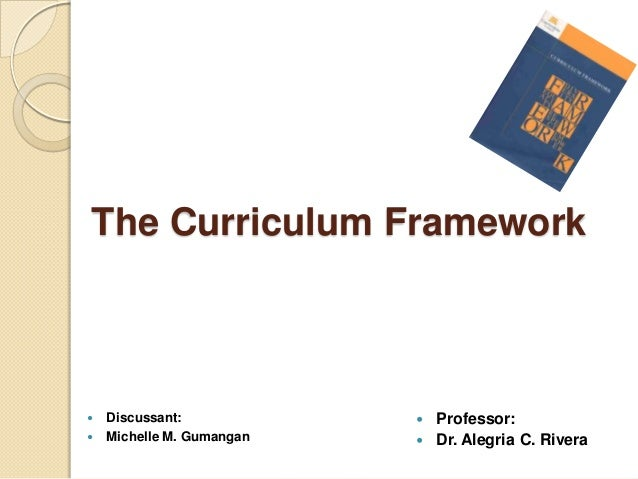 The Curriculum Framework   Discussant:             Professor:   Michelle M. Gumangan    Dr. Alegria C. Rivera