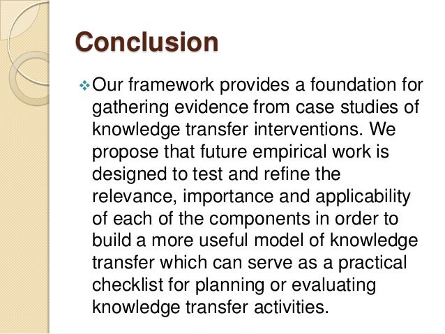 The curriculum framework