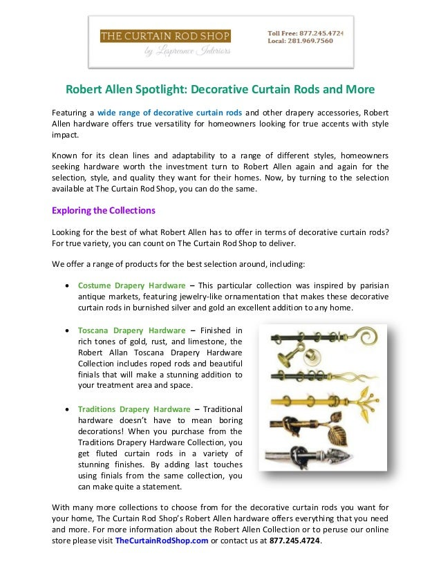 Robert Allen Spotlight: Decorative Curtain Rods And More Featuring A Wide  Range Of Decorative Curtain