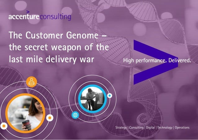The Customer Genome – the secret weapon of the last mile delivery war