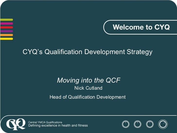 CYQ's Qualification Development Strategy  Moving into the QCF Nick Cutland Head of Qualification Development
