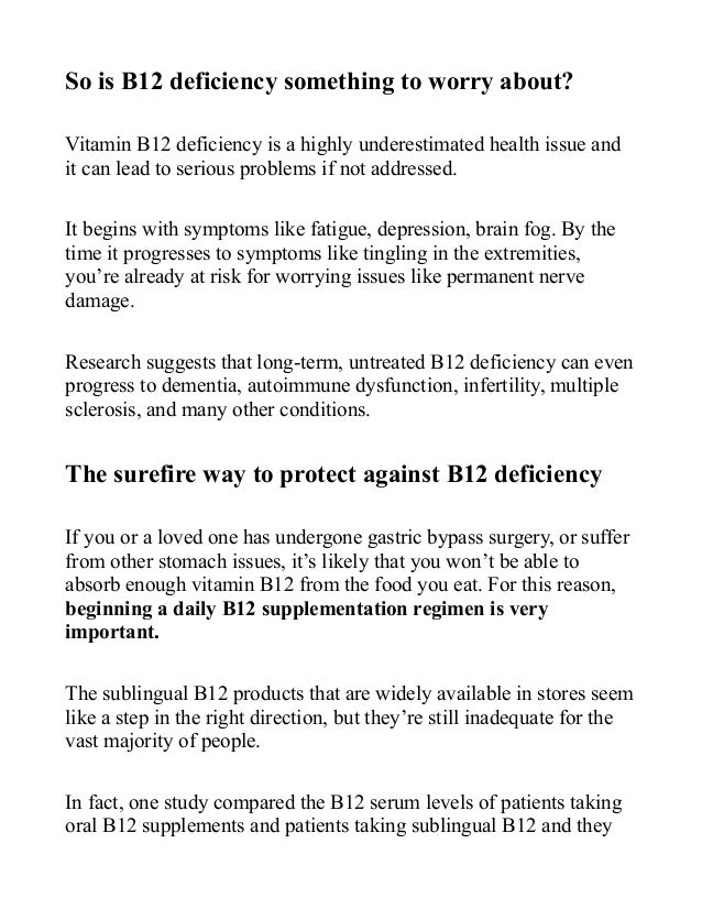 The Danger Of B12 Deficiency After Gastric Bypass Surgery