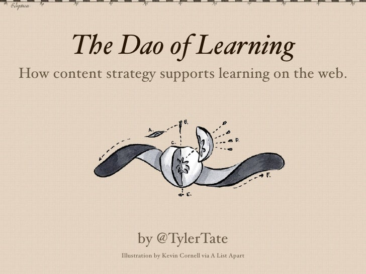 The Dao of LearningHow content strategy supports learning on the web.                     by @TylerTate               Illu...
