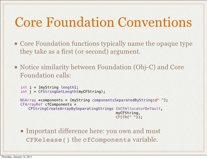 Core Foundation • C API