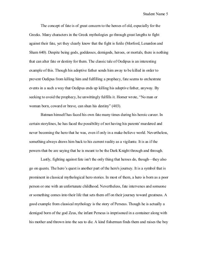 the dark knight and the modern myth essay sample  5 student