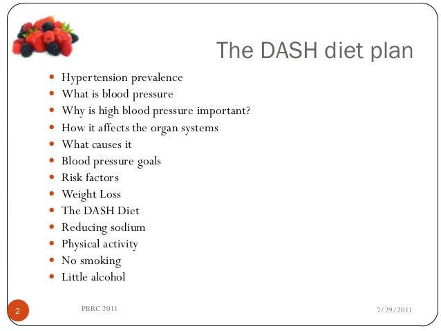 dash diet plan for hypertension