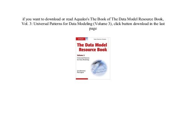 The data model resource book, vol  3 universal patterns for