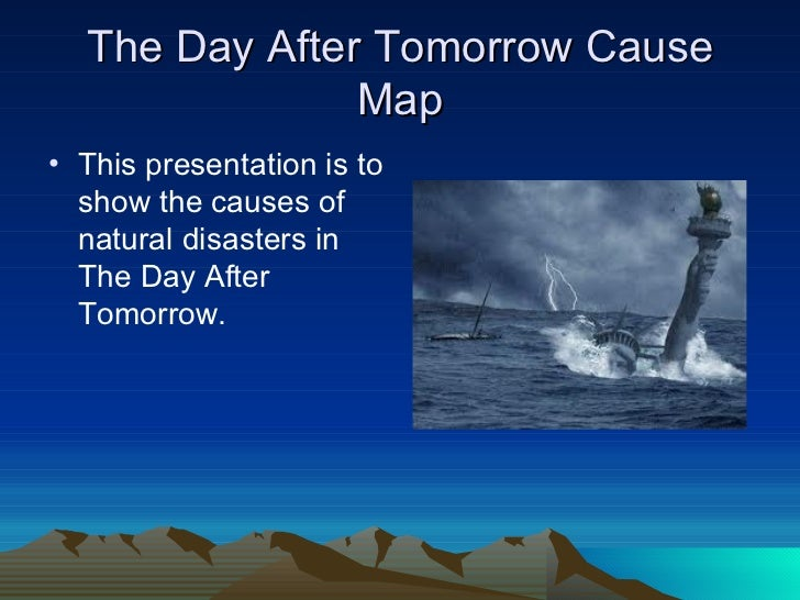 the day after tomorrow not as The day after tomorrow is the kind of formulaic disaster movie that audiences would have eaten up in the 70's and 90's, but it's hard to believe that this sort.
