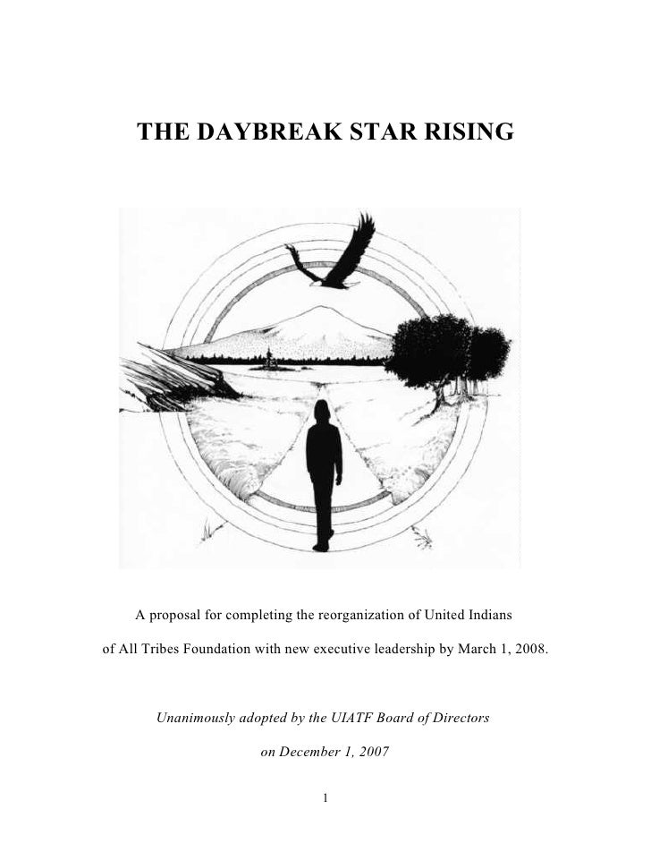 The daybreak star rising