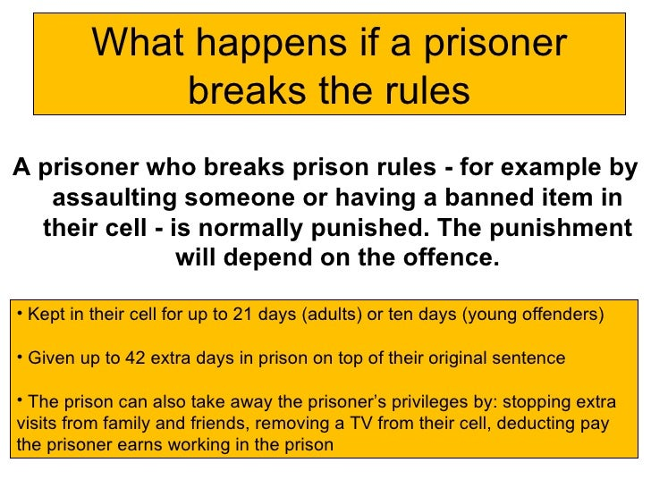The day in the life of a prisoner
