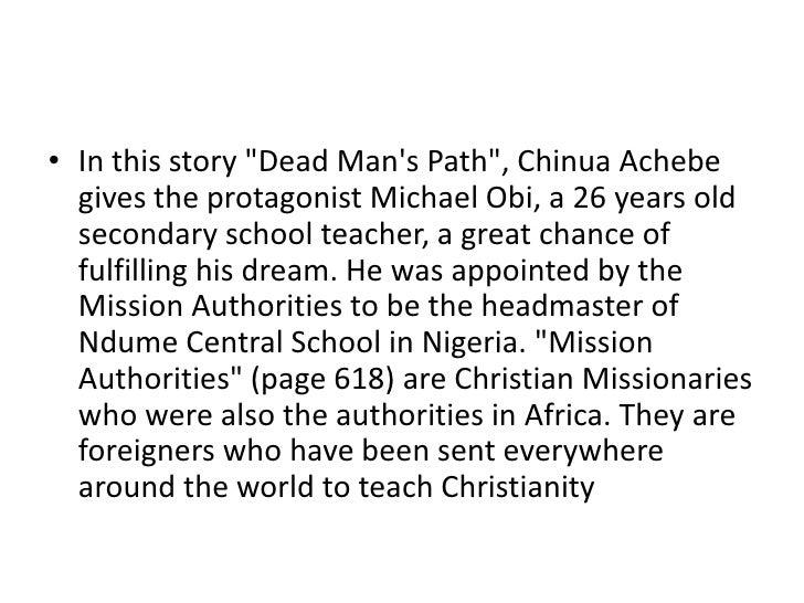 chinua achebe dead mens path analysis
