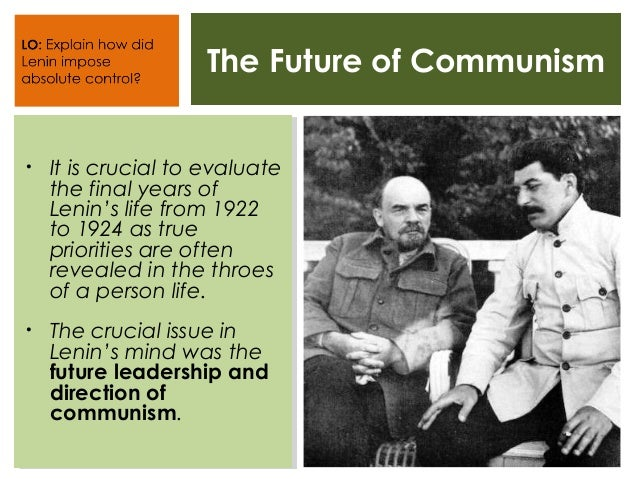 The Death of Lenin Slide 2