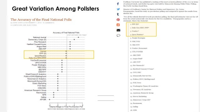Great Variation Among Pollsters 2 5
