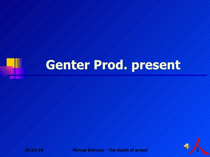 Genter Prod. present