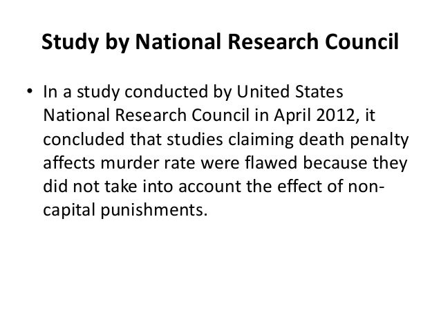 An analysis of the implementation of capital punishment in the united states