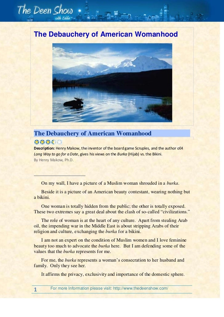 The Debauchery of American Womanhood<br />The Debauchery of American Womanhood<br /> Description:Henry Makow, the inven...