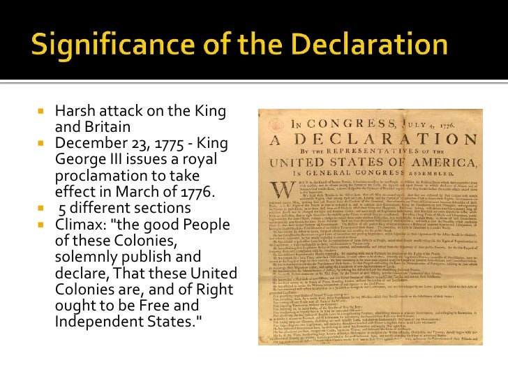 the significance of the declaration of independence and the idea of the american dream 1 overview in this lesson, students will explore the structure, purpose, and significance of the declaration of independence focusing on the most famous phrases of the declaration.
