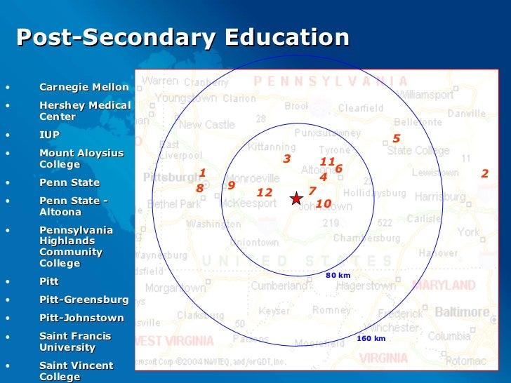 Post-Secondary Education <ul><li>Carnegie Mellon </li></ul><ul><li>Hershey Medical Center </li></ul><ul><li>IUP </li></ul>...