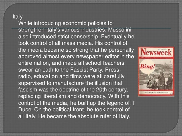 mussolinis doctrine of fascism pdf