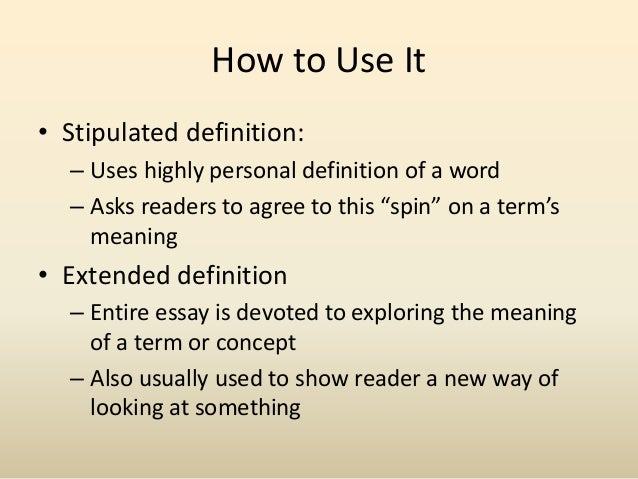 Ideas for definition essays