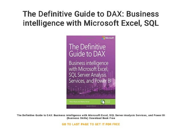 The Definitive Guide to DAX: Business intelligence with