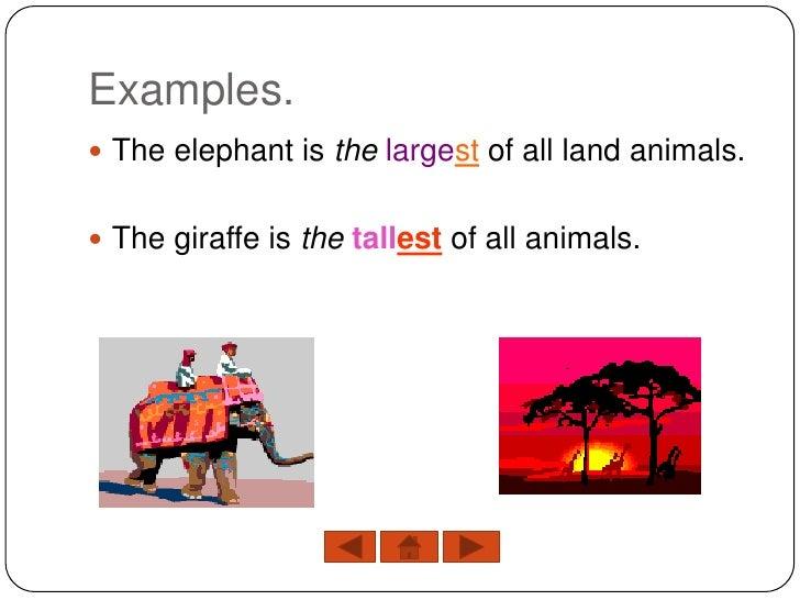 comparison sentences examples