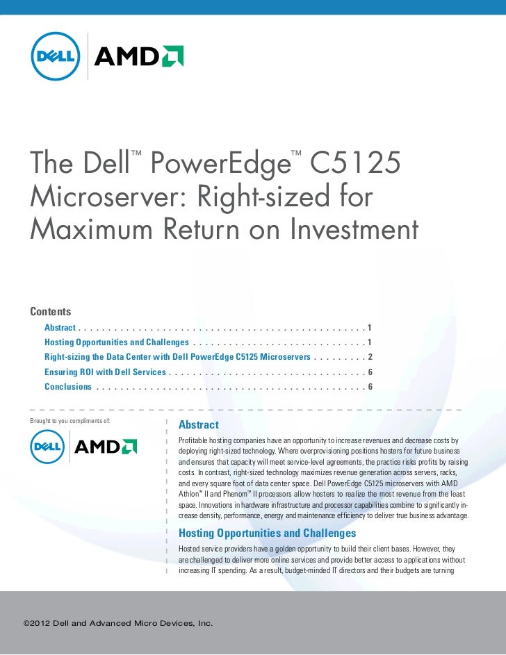 The Dell PowerEdge C5125                     ™                                                                        ™ Mi...
