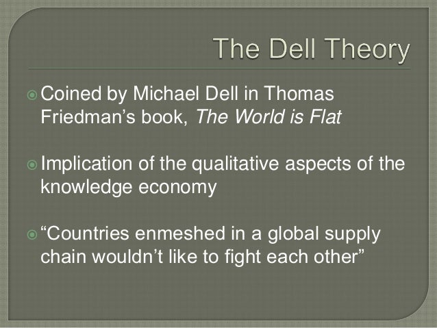 The Dell's Theory of Conflict Prevention - Essay Example