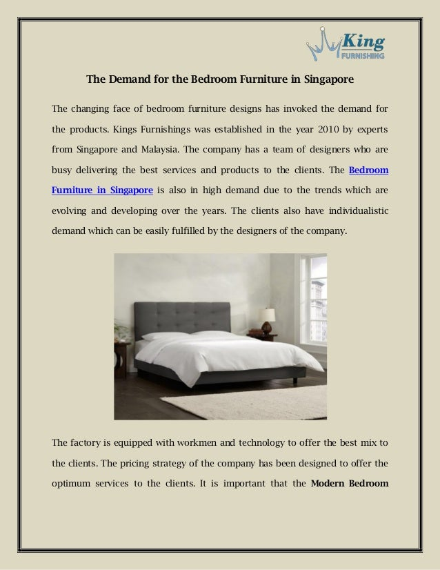 The Demand for the Bedroom Furniture in Singapore