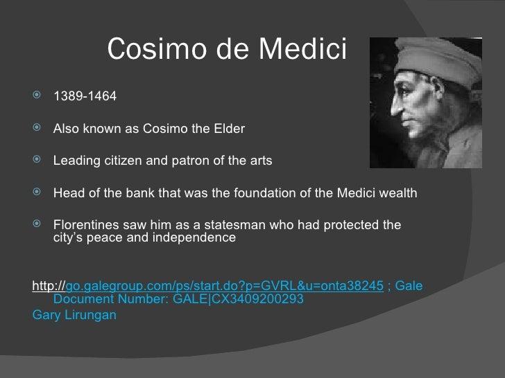 medici bank Giovanni di bicci de' medici (1360-1429) was de stichter van de medici-bank en de groundlegger van 't familiefortuun van 't machtig geslacht.