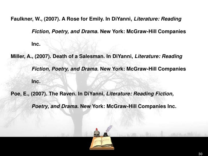 Diyanni literature reading fiction poetry drama essay