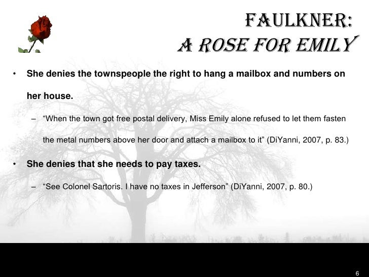 a rose for emily theme