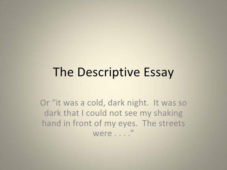 essay descriptive