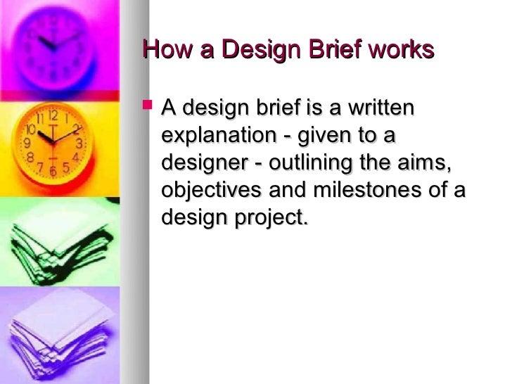 HSC Design and Technology. The design brief Slide 2