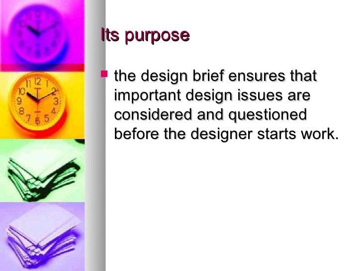 HSC Design and Technology. The design brief Slide 3