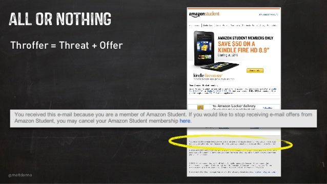 @mattdanna ALl OR NOTHING Throffer = Threat + Offer