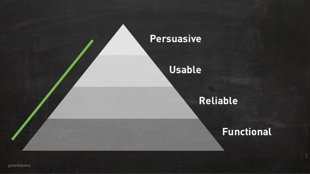 @mattdanna Functional Reliable Usable Persuasive