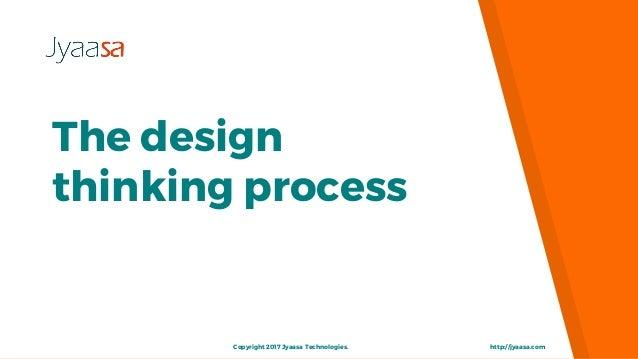 The design thinking process http://jyaasa.comCopyright 2017 Jyaasa Technologies.