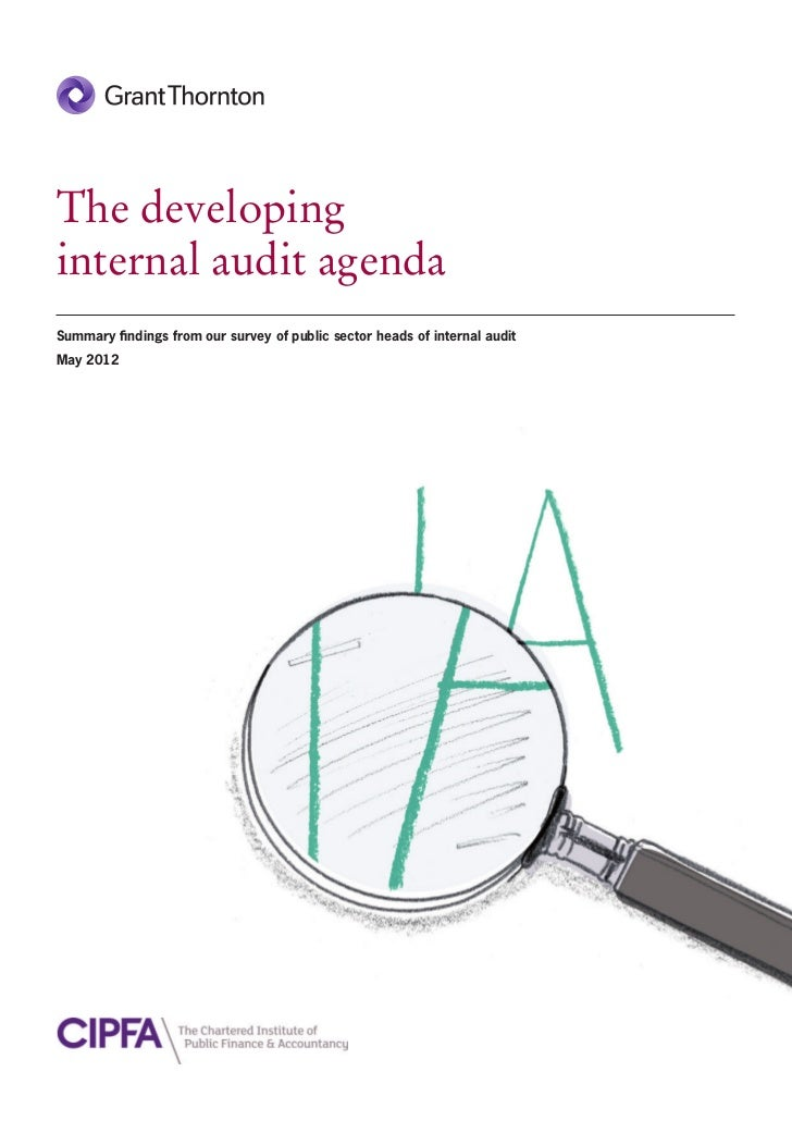 The developinginternal audit agendaSummary findings from our survey of public sector heads of internal auditMay 2012