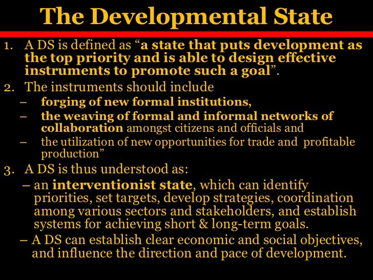 developmental state Bolesta, andrzej (2012) china as a post-socialist developmental state: explaining chinese development trajectory phd thesis, the london school of economics and political science (lse.