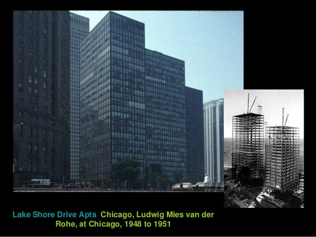 Lake Shore Drive Apts, Chicago, Ludwig Mies van der Rohe, at Chicago, 1948 to 1951