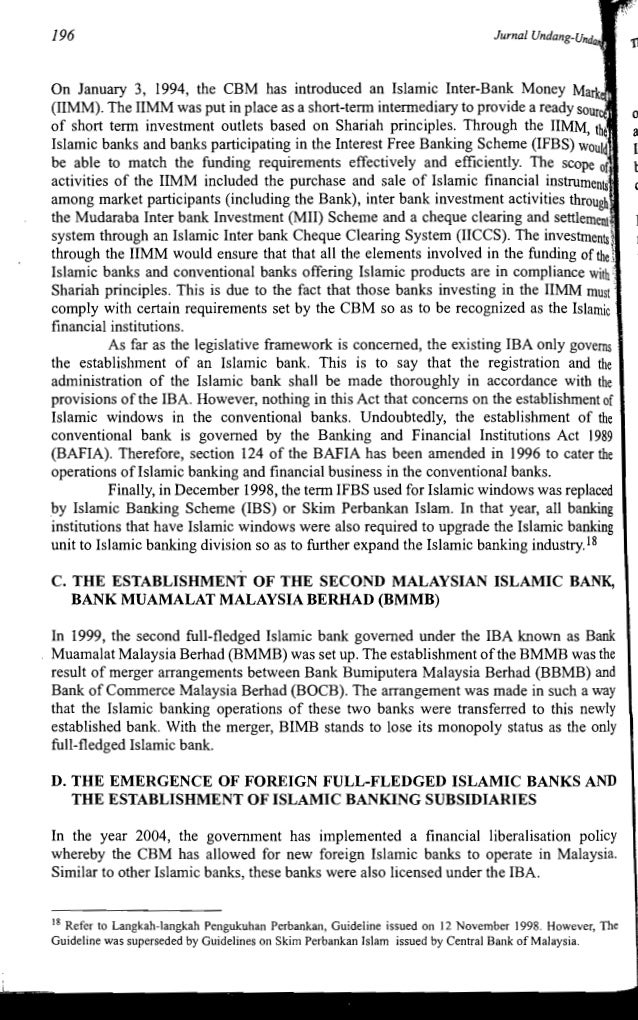 The Development Of Islamic Banking Laws In Malaysia An Overview