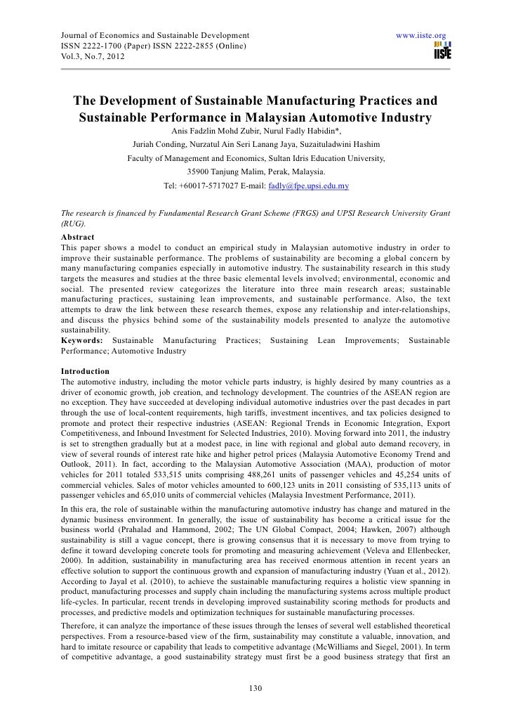 Journal of Economics and Sustainable Development                                                  www.iiste.orgISSN 2222-1...